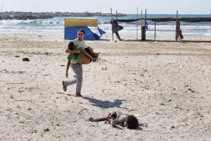 Var det här palestinska barnen använda som mänskliga sköldar i Gaza?